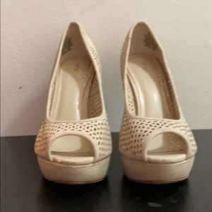Tan/cream high heels for sale!